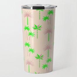 Palm Trees - Green & Neutral Travel Mug