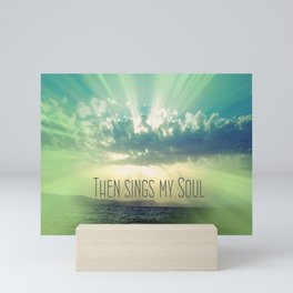 Then Sings My Song Sunbeams Mini Art Print