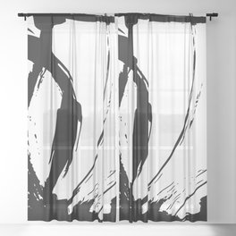 Brushstrokes No.15A by Kathy Morton Stanion Sheer Curtain