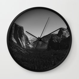 Tunnel View, Yosemite National Park IV Wall Clock