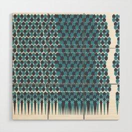 Cubist Ornament Pattern Wood Wall Art