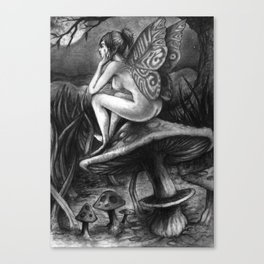 Faerie in Thought Canvas Print