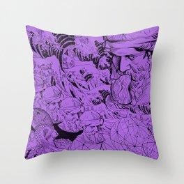 Bermuda (purple) Throw Pillow