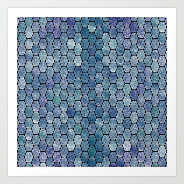Glitter Tiles VI Art Print