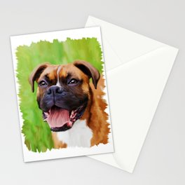 Painterly Boxer Stationery Cards