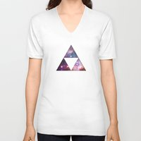 triforce V-neck T-shirts featuring Cosmic Triforce by Spooky Dooky