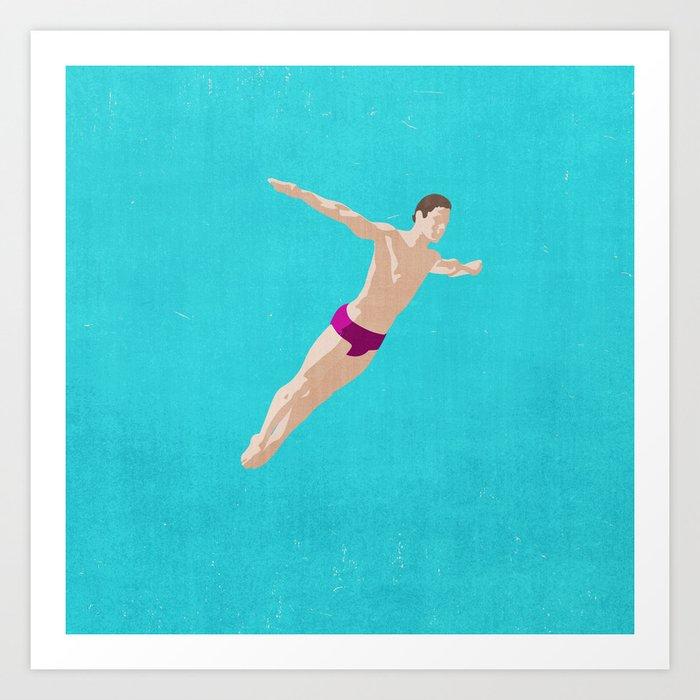 SUMMER GAMES / Diving Art Print