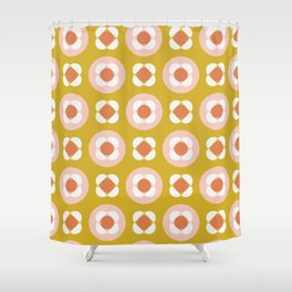 Little Buds Geometric Floral Shower Curtain