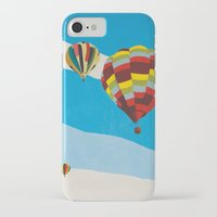 hot air balloons iPhone & iPod Cases featuring Three Hot Air Balloons by Shelley Chandelier