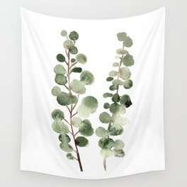Eucalyptus (watercolor finger painting) Wall Tapestry