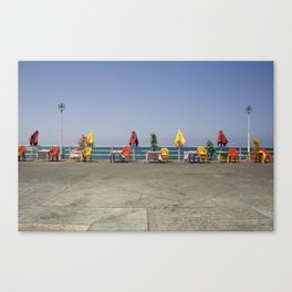 waiting for customers Canvas Print