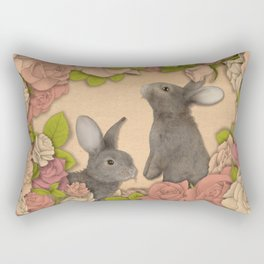Rosie Rabbits Rectangular Pillow