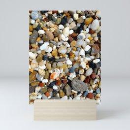 Stones at Potami Beach on Samos Island (Greece) - Design 1 Mini Art Print