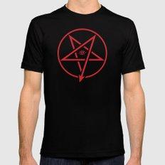 Adversary Pentagram LARGE Black Mens Fitted Tee