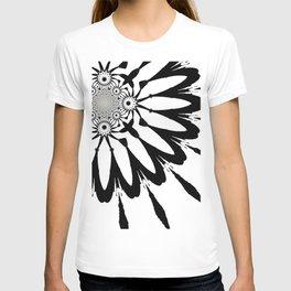 The Modern Flower White & Black T-shirt