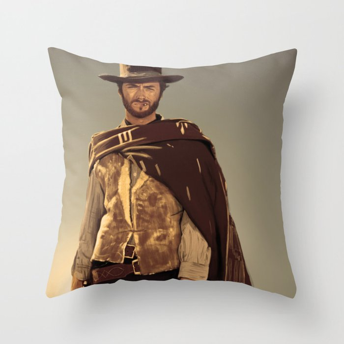 Clint Eastwood Throw Pillow By Thousandlinesink Society6