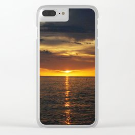 Florida Summer Sunset Clear iPhone Case