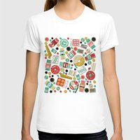 sewing T-shirts featuring Gran's Sewing Basket by heidi kenney