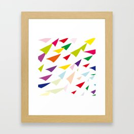 colored arrows Framed Art Print