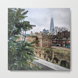 View of the Shard from the Tower of London Metal Print