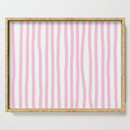 Pink Stripes Serving Tray
