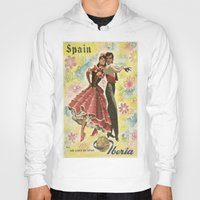 spain Hoodies featuring SPAIN by Kathead Tarot/David Rivera