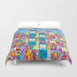 It's A Small World - Theme Park Inspired Duvet Cover