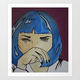 Pop Art Uma Thurman Art Print