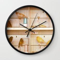 Marche Aux Oiseaux 2 Wall Clock