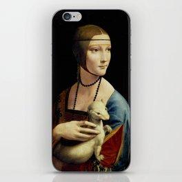 """Leonardo Da Vinci """"Portrait of Cecilia Gallerani (Lady with the Ermine)"""" iPhone Skin"""