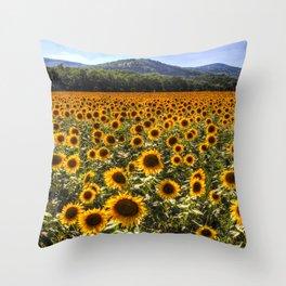 Sunflower Fields Of Dreams Throw Pillow