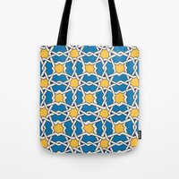 morocco Tote Bags featuring Morocco ornament by Galina Khabarova