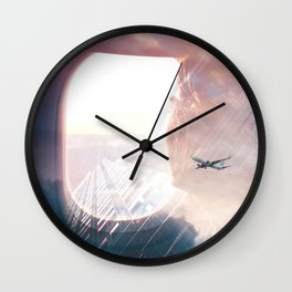 In the plane Wall Clock