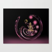 meditation Canvas Prints featuring Meditation by LoRo  Art & Pictures