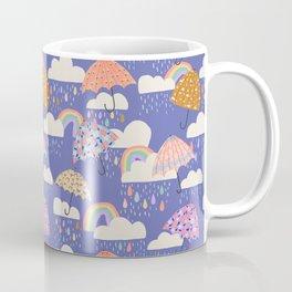 Spring Rain with Umbrellas Coffee Mug