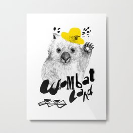 Wombat Love Metal Print