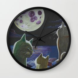 Moon Hope Wall Clock