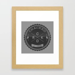 The Cracked Seal of Officialness Framed Art Print