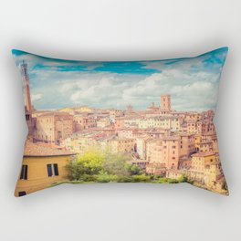 A View of Siena Italy Rectangular Pillow