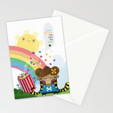 PopCorn can save the world Stationery Cards