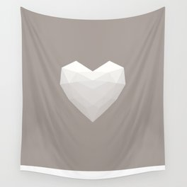 Modern Love - White on Grey Wall Tapestry