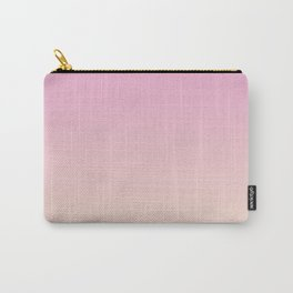 Pastel Millennial Pink Peach Gradient Carry-All Pouch