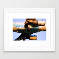 plane Framed Art Prints featuring Plane by Luc Girouard