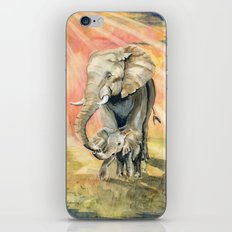 Mom and Baby Elephant iPhone & iPod Skin
