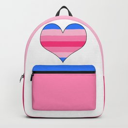 Trans Woman Heart Backpack