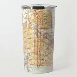 Long Beach, CA from 1949 Vintage Map - High Quality Travel Mug