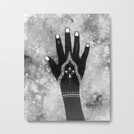 Henna Metal Print
