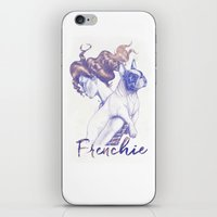 frenchie iPhone & iPod Skins featuring FRENCHIE by Marcel Spuldaro Art