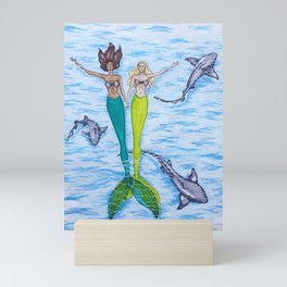 Floating Mermaids Mini Art Print