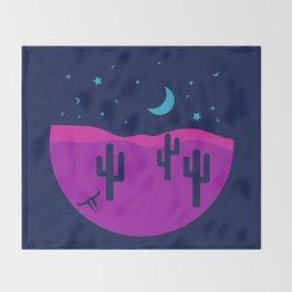 Modern Desert Cactus Scene #desert #cactus Throw Blanket